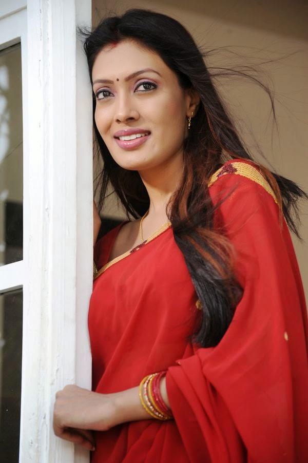 Hot Actress Surabhi Hot Navel In Red Saree Photos