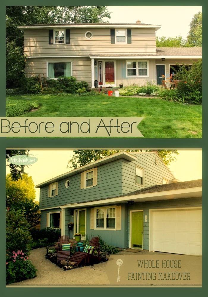 Art Is Beauty Whole House Painted Makeover Exterior Makeover