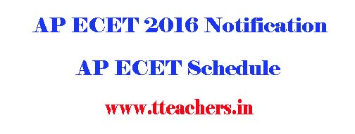 APECET 2016 Notification Apply Online Form Exam date