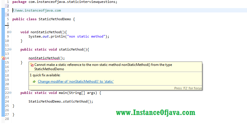 calling non static method from static method.png