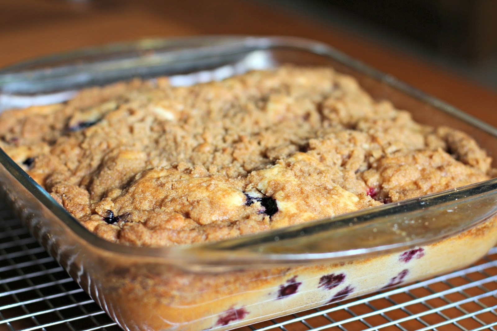 Blueberry Buttermilk Coffee Cake | VISIONS OF SUGAR PLUM
