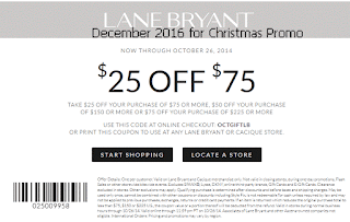 Lane Bryant coupons december