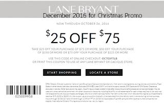 Lane Bryant coupons december