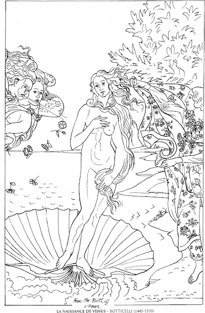 Lanaissancedevenusbotticelli Famous Paintings Coloring Pages