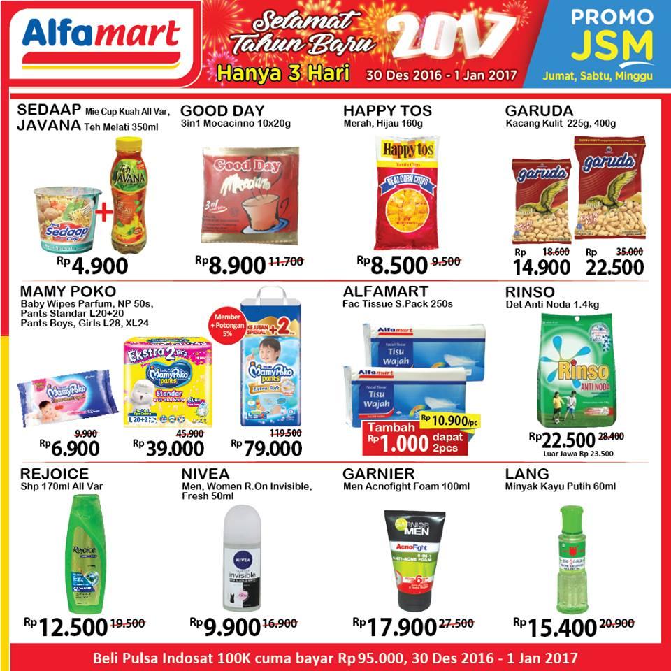 Katalog Harga Promo Alfamart Akhir Pekan 30 Desember – 1 Januari 2017