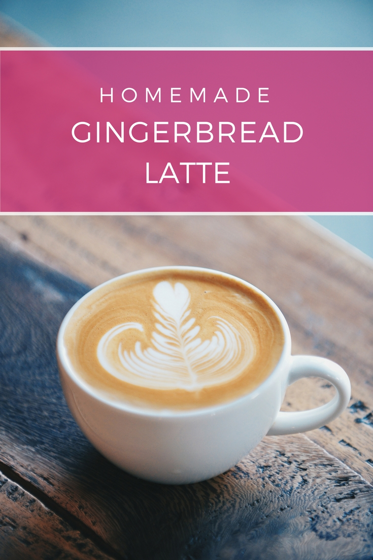 Gingerbread Latte recipe (Starbucks copycat) with homemade gingerbread syrup: Skip the trip to the coffee shop and make your own decadence in a mug right in your kitchen with this easy homemade gingerbread latte recipe| Ioanna's Notebook