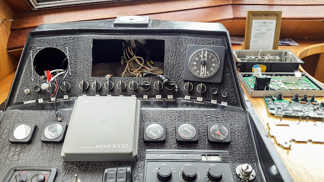 Photo of gaping holes in Ravensdale's instrument panel