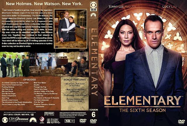 Elementary Season 6 DVD Cover DVD Cover