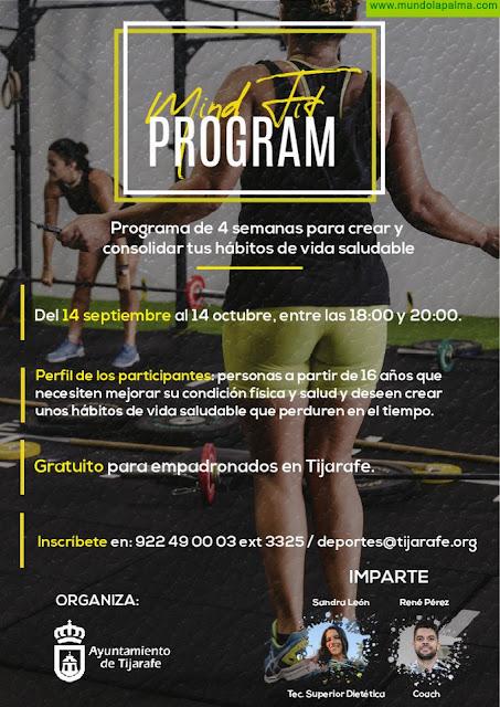 """El Ayuntamiento de Tijarafe impulsa el programa deportivo """"Mind Fit Program"""""""