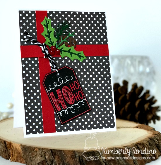 holiday card by Kimberly Rendino | Newton's Nook Designs | kimpletekreativity.blogspot.com | cardmaking | handmade card | papercraft | christmas | ho ho ho
