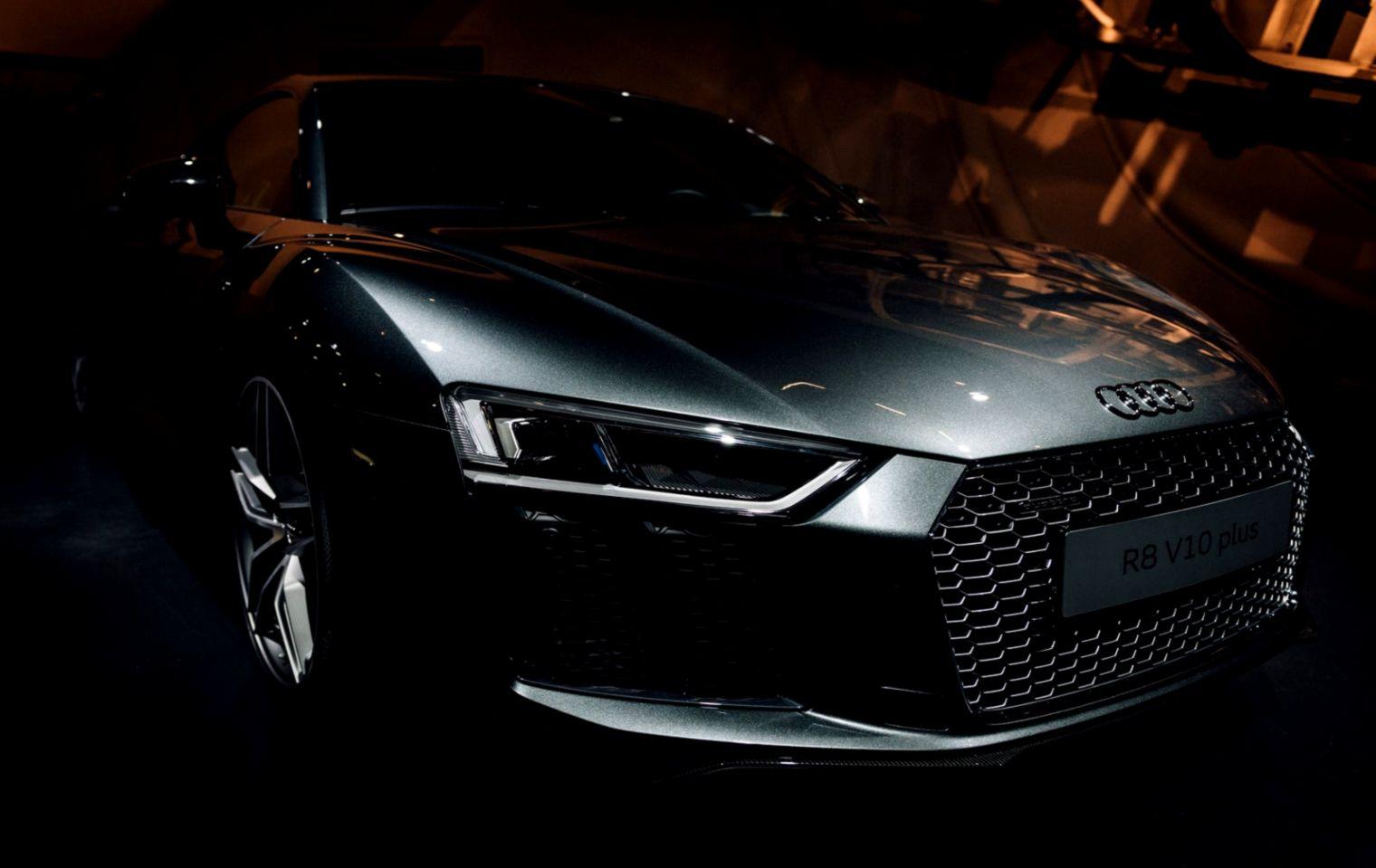 Audi R8 Black Wallpaper Hd Wide Wallpapers