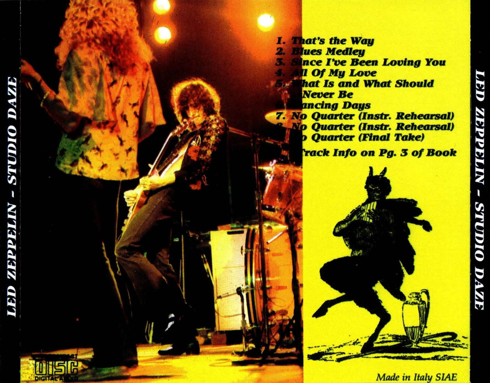 RELIQUARY: Led Zeppelin - Studio Daze (Scorpio) [SBD] FLAC + MP3
