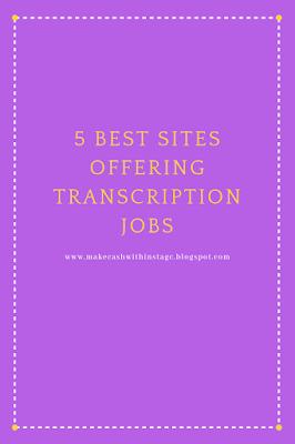 5 best sites offering transcription jobs