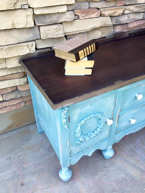 Vintage Mini-Buffet Makeover with Weatherwood