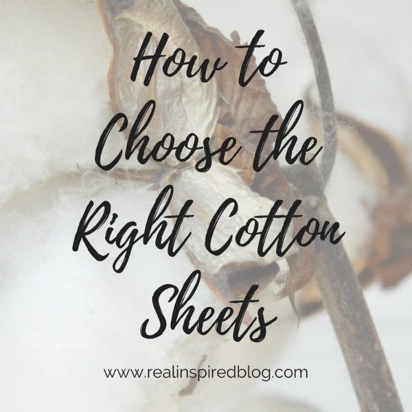 choosing the right cotton sheets for you