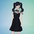 ribbon lace black dress_리본 레이스 블랙 드레스_여성 의류