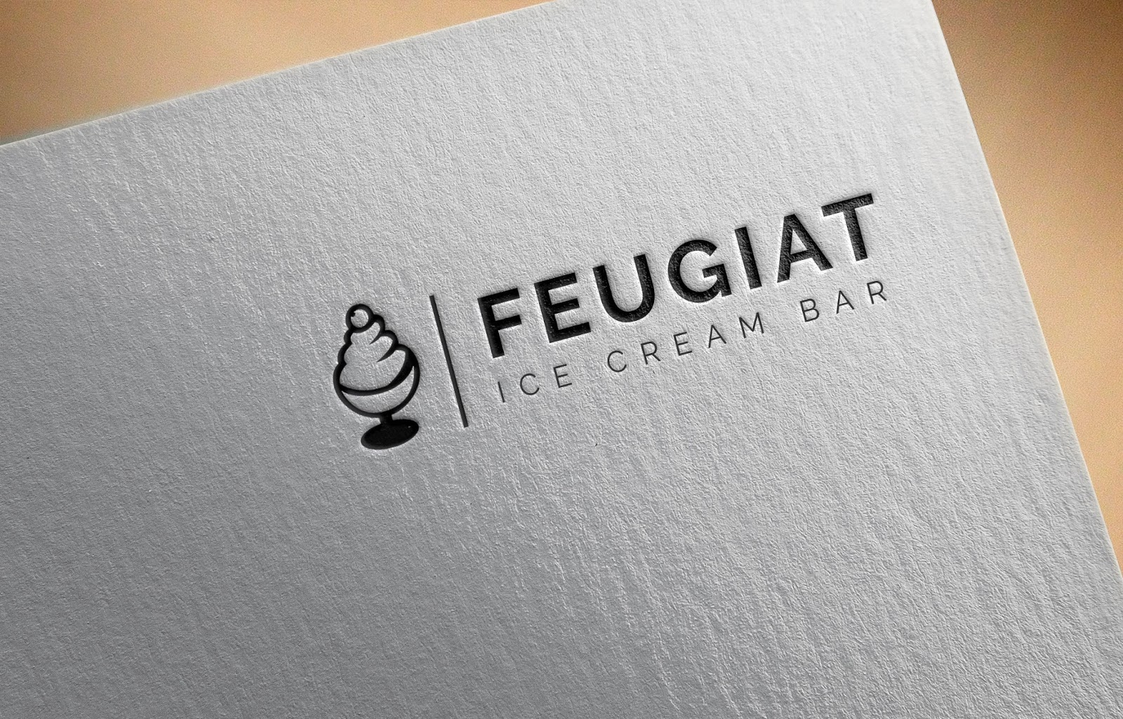 Ice Cream Bar Logo Idea
