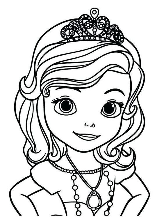 Tranh cho bé tô màu ông chúa Sofia