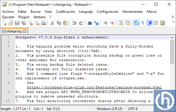Notepad ++ v7.5.9 - El Blog de HiiARA