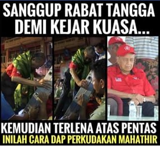Mahathir Sanggup Risiko Diri Panjat Tangga Demi Mengejar Kuasa Belum Pasti #TolakPH