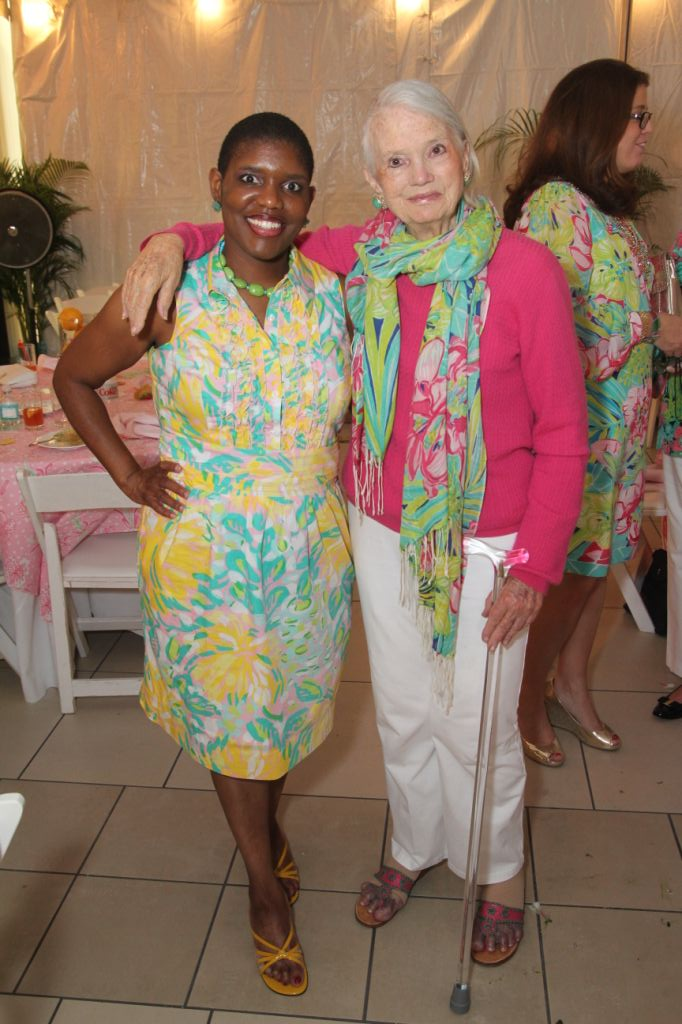 471b08513de460 Lori J. Durante with Lilly Pulitzer Rousseau at her 80th birthday brunch  hosted at the Museum of Lifestyle & Fashion History. Photo by Lucein  Capehart ...