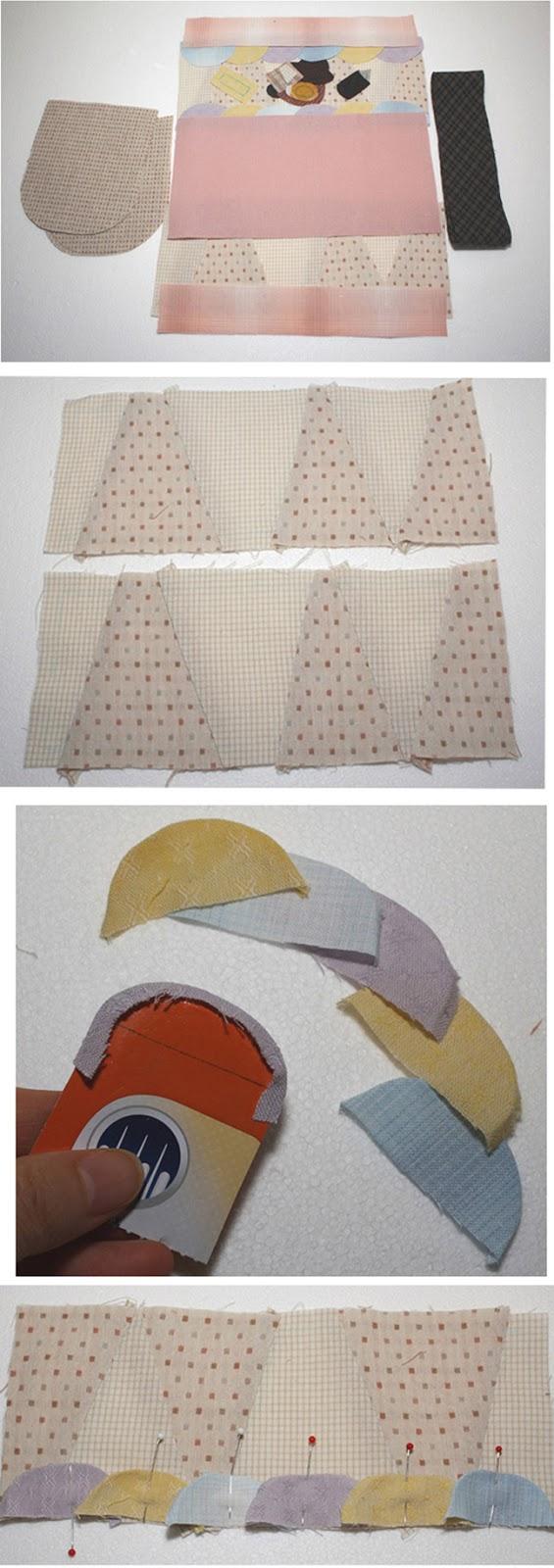 Women bags Patchwork tie-fabric clutch.  DIY step-by-step tutorial. Косметичка или клатч в технике пэтчворк