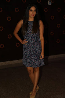 Actress Dhanya Balakrishna Stills in Floral Short Dress at Savitri Audio Launch  0051