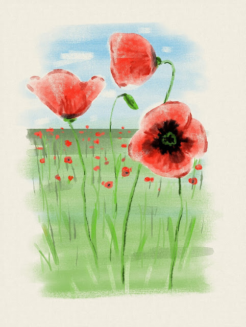 Poppies made with Rebelle3