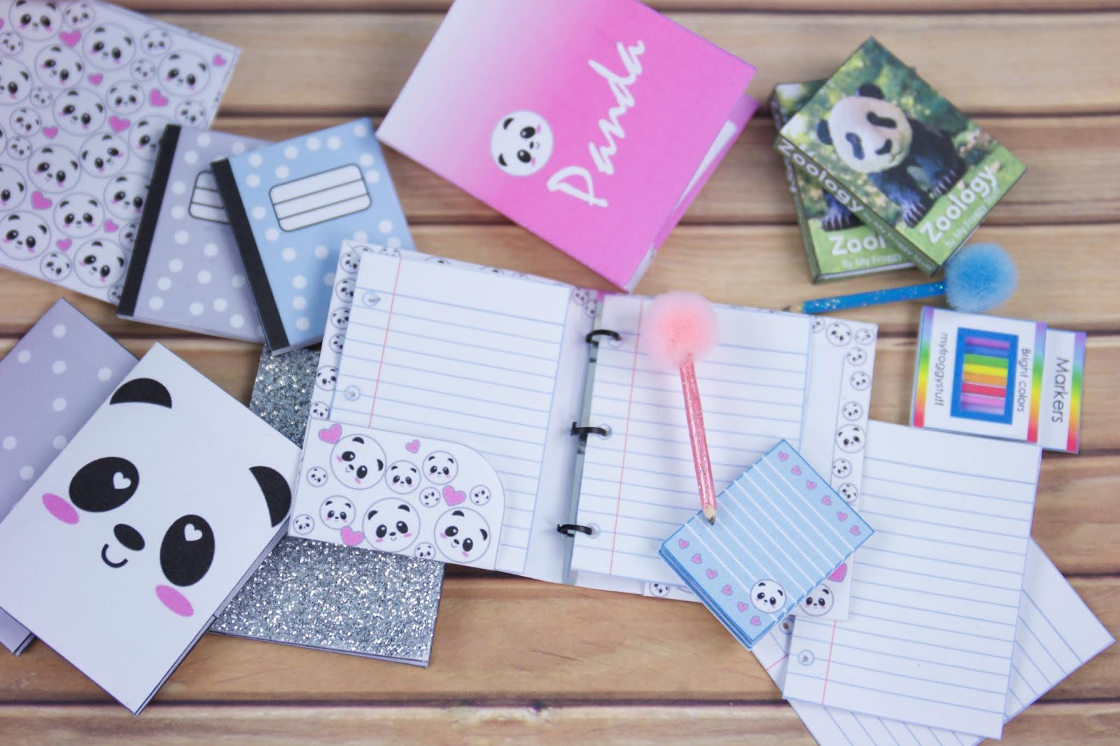 My Froggy Stuff: Back to School : DIY Panda School Supplies Free