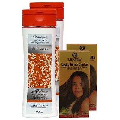 Kit 2 shampoo e 2 tônico anticaspa e seborreia