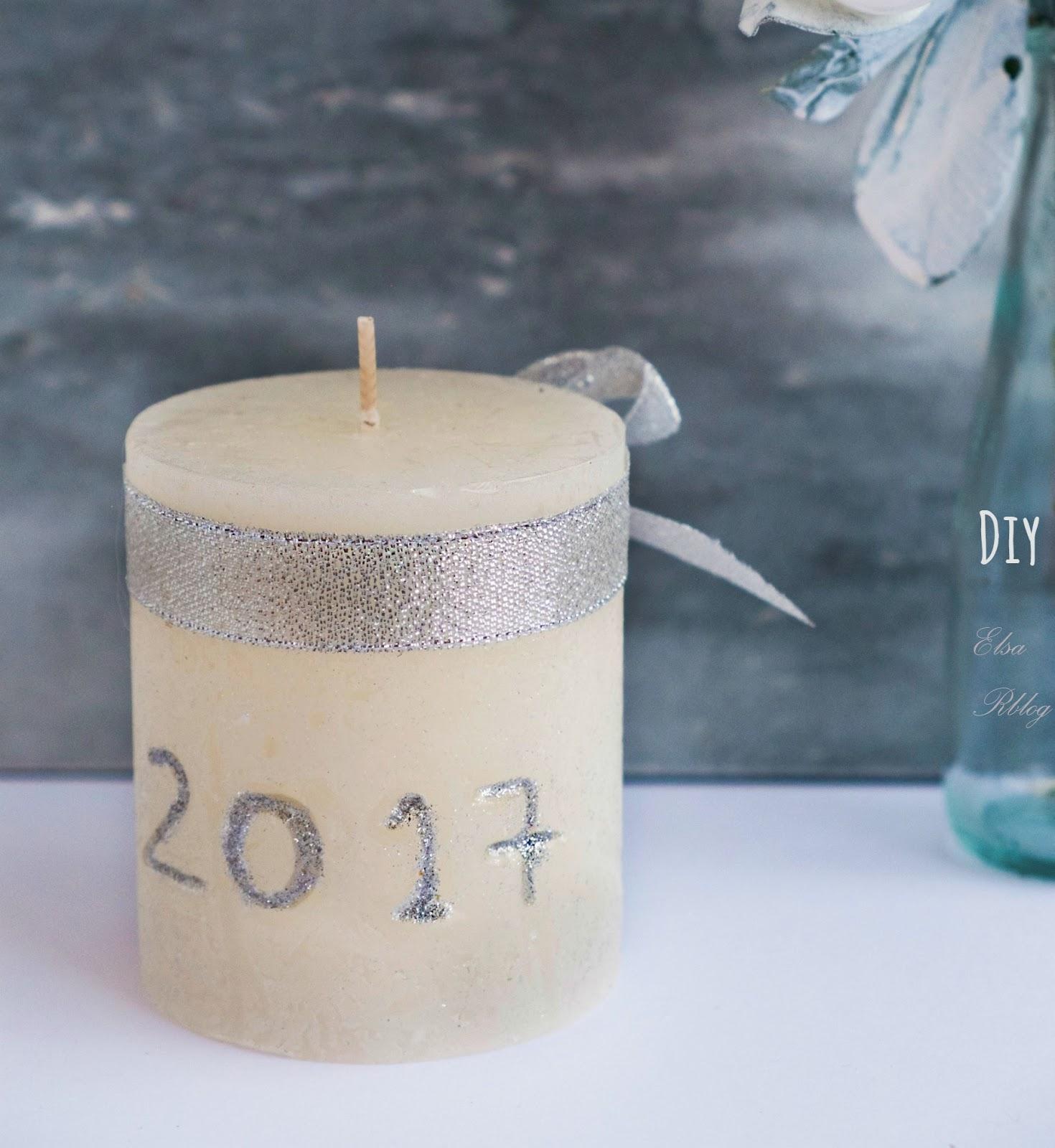 Zelf een kaars maken voor nieuwjaar - Diy decoratie