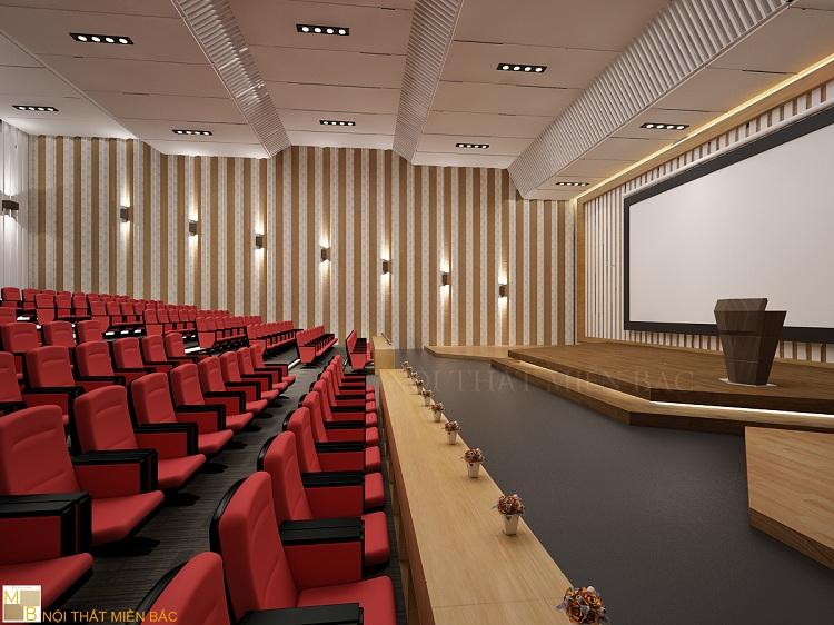 Chọn nội thất cao cấp trong tư vấn thiết kế hội trường đa năng