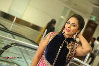 Telugu Actress Sri Reddy Mallidi Stills in White Beautiful Dress at Marriage Needs Bridal Fashion Week 2017 Logo Launch  0192.JPG