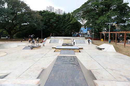Pista Street do Skatepark do Parque Chácara do Jockey