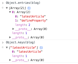 Object.entries() and Object.keys()
