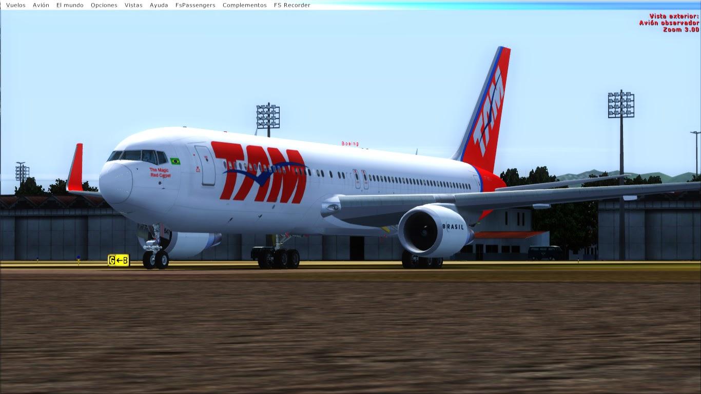 FlyRepaints : Level D- Boeing 767-300ER(WL) TAM PT-MSV