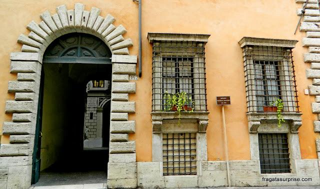 Palácio renascentista na Via Giulia, em Roma