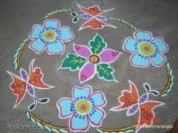 Flower Rangoli Kolam