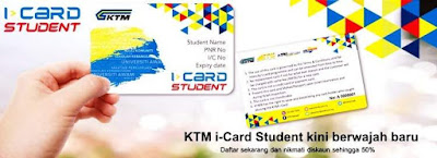 Cara Mohon Kad Diskaun Pelajar KTM i-Card Student Secara Online