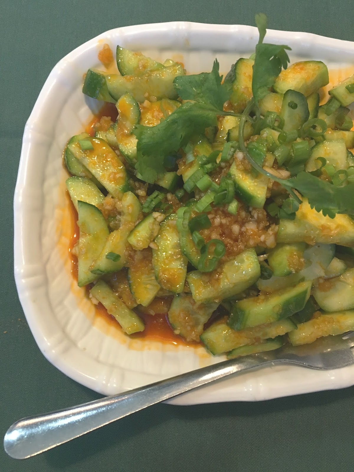 garlic-flavored cucumber at Cooking Girl - A Chinese restaurant, in Houston