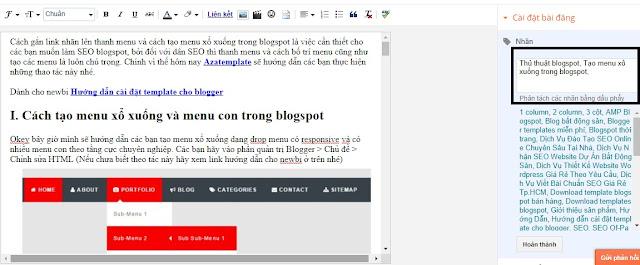 Cách tạo thư mục trong blogspot