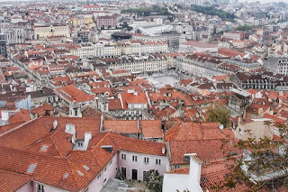Lisbon's red rooftops