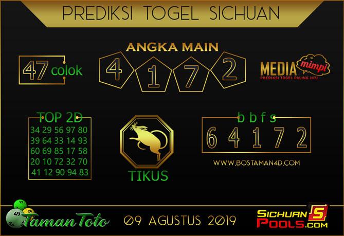 Prediksi Togel SICHUAN TAMAN TOTO 09 AGUSTUS 2019