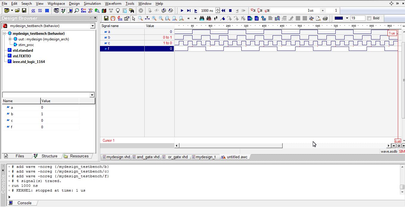 running simulation in aldec active hdl