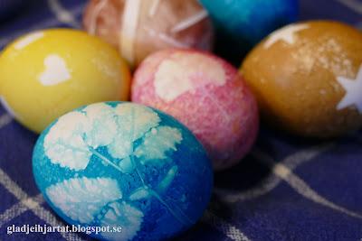 påskägg, färgade påskägg, naturliga färger, Sösdala, påsk i sösdala