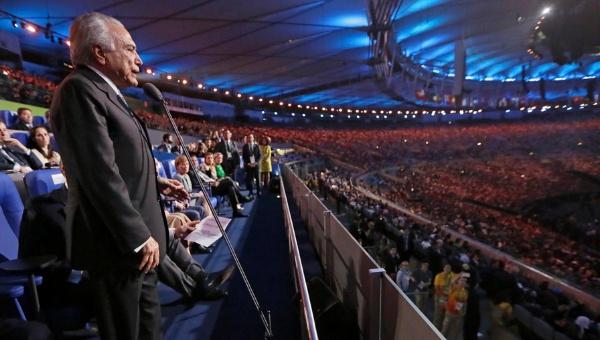 Brasileños abuchean a Michel Temer en inauguración de Río 2016
