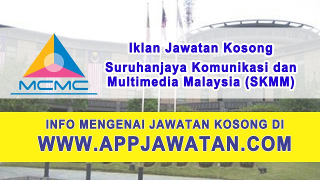 Jawatan Kosong di Suruhanjaya Komunikasi dan Multimedia Malaysia (SKMM) - 3 Mac 2017