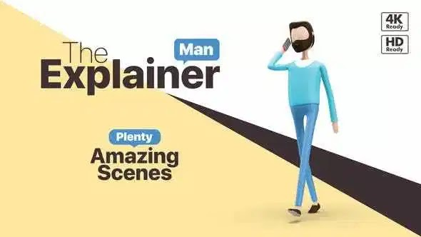Videohive The Explainer Man 25543226