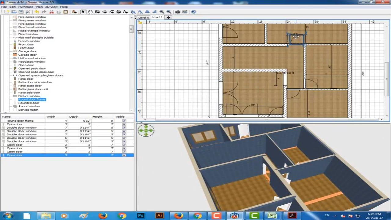 Sweet home 3d tutorial rizal amd rvh cara membuat desain rumah 3d dengan sweet home 3d sweet for 3d home architect design deluxe 8 tutorial