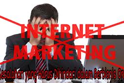 7 Kesalahan yang Harus Dihindari dalam Berbisnis Online